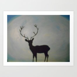 Moonlight dear Art Print