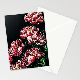 Peonies markers drawing Stationery Cards