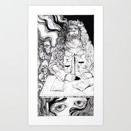 Tarot - Justice Art Print