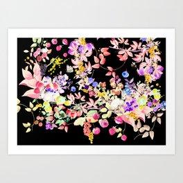 Soft Bunnies black Art Print