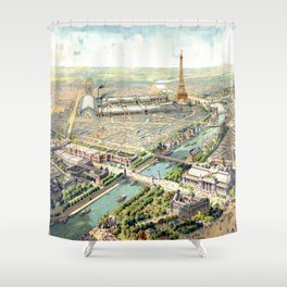 Paris World Fair 1900 Shower Curtain