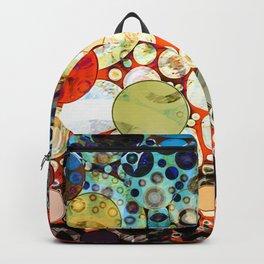 Abstract Retro Blue Orange Bubble Design Backpack