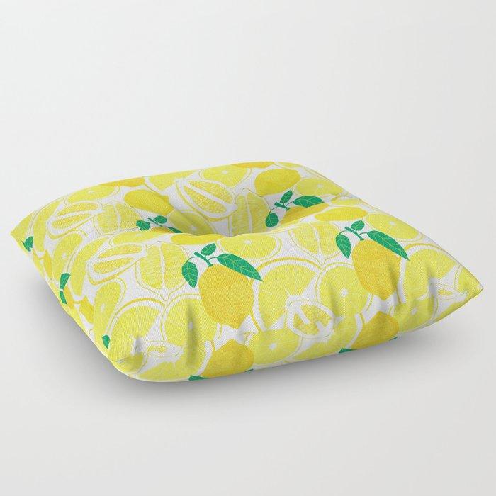 Lemon Harvest Floor Pillow