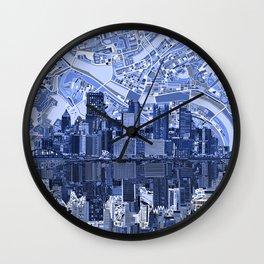 pittsburgh city skyline Wall Clock