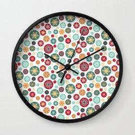Retro Snowflake Christmas Ornaments Wall Clock