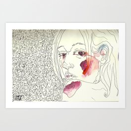 Over My Shoulder #1 Art Print