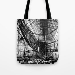Airship under construction Tote Bag