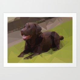 Labrador Low Poly Art Print