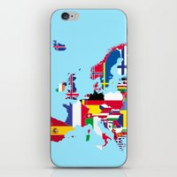 europe iPhone & iPod Skins featuring Europe flags by SebinLondon