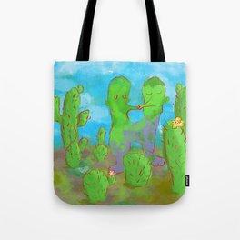 Kissing Cactus Tote Bag