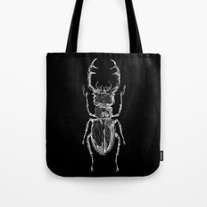 Lucanus cervus on dark Tote Bag