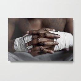 Strong Hands Metal Print