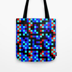 pixel labyrinth Tote Bag