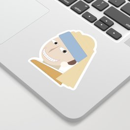 Smiling Girl with a Pearl Earring Sticker