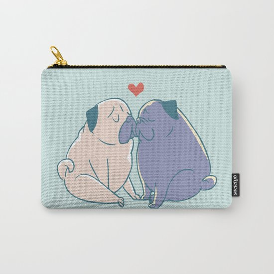 Pugs and Kisses Carry-All Pouch