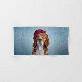 Drawing Dog Beagle Hand & Bath Towel