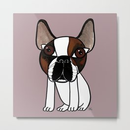 Joey, the french bulldog that thinks he's human Metal Print