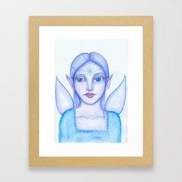 Snow fairy Framed Art Print
