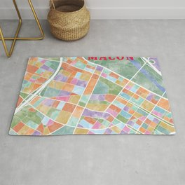 Macon, Georgia Map Rug