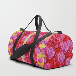 Roses and butterflies on ribbons as a gift of love Duffle Bag