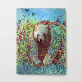 Fireweed Bear Metal Print