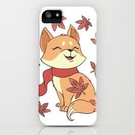 Cat Leaf Fall iPhone Case