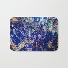 Colorful New York City Skyline Bath Mat