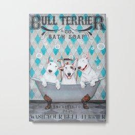 Bull Terrier Bull Terrier Bath Soap Metal Print