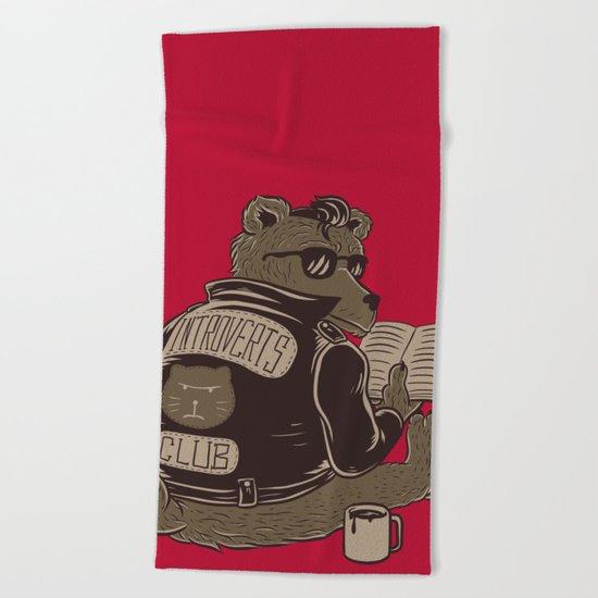 Introverts Club Beach Towel