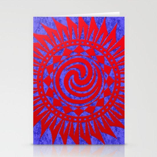 winzah red mandala Stationery Cards