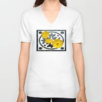 iceland V-neck T-shirts featuring  Iceland poppy  by LudaNayvelt