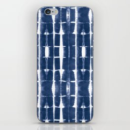 Shibori Stripes 3 Indigo Blue iPhone Skin