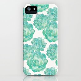 Rosette Succulents – Mint Palette iPhone Case