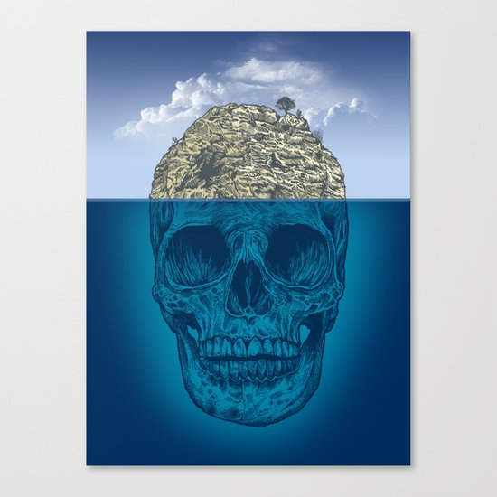 Skull Island Canvas Print