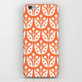 Mid Century Flower Pattern 4 iPhone Skin