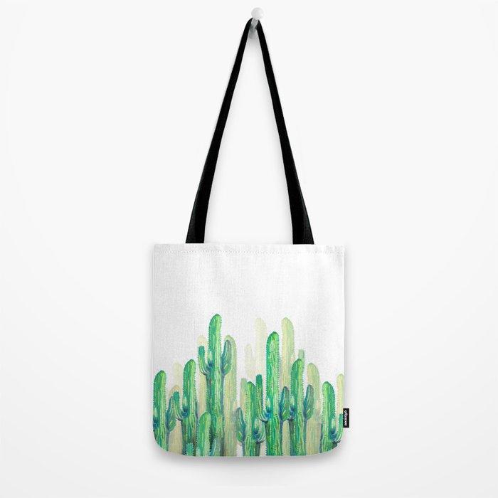 cactus vertical Tote Bag