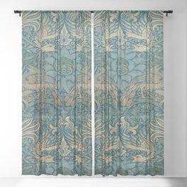 Gothic William Morris Sheer Curtain