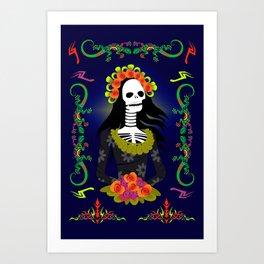 Novia De Los Muertos Art Print