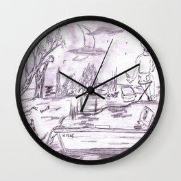 Gone Fishin' 1 Wall Clock