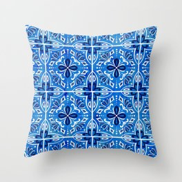 Sevilla - Spanish Tile Throw Pillow