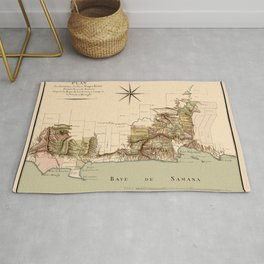 Map Of Dominican Republic 1807 Rug