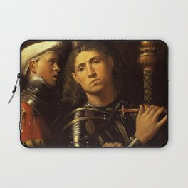"""Giorgione """"The """"Gattamelata"""". Man in armour with a squire"""" Laptop Sleeve"""