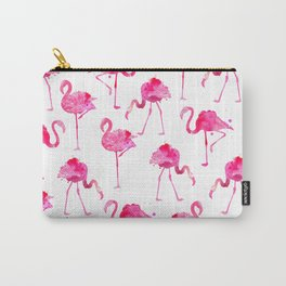 floridian flamingos - white Carry-All Pouch