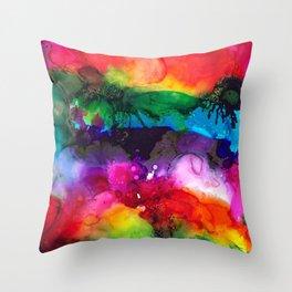 Wild Rainbows Throw Pillow