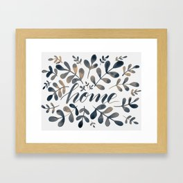 Watercolor home foliage – neutral Framed Art Print