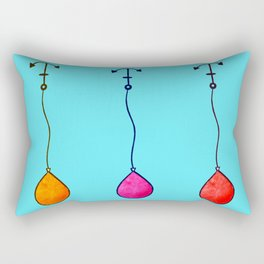 Colorful Baloons Watercolor Rectangular Pillow