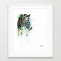 zebra Framed Art Prints featuring Zebra by Del Vecchio Art by Aureo Del Vecchio