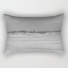 Dunes of Assateague Island (black and white) Rectangular Pillow