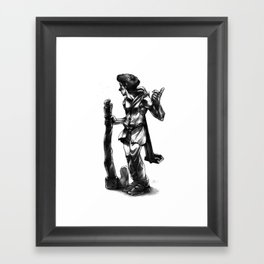 Regretful Adventurer  Framed Art Print