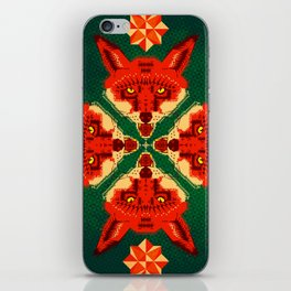 Fox Cross geometric pattern iPhone Skin